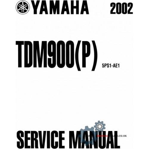 2002-2004 Yamaha TDM900(P) Service Repair Factory Manual INSTANT DOWNLOAD